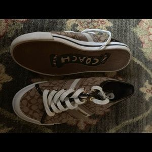 Coach sneakers. Size 7. Brown with C logo.